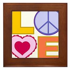 Love Art Framed Tile