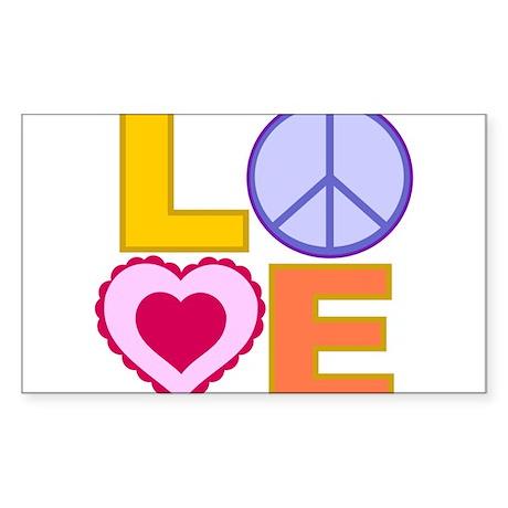 Love Art Sticker (Rectangle)