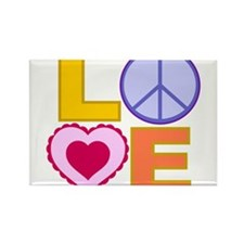 Love Art Rectangle Magnet