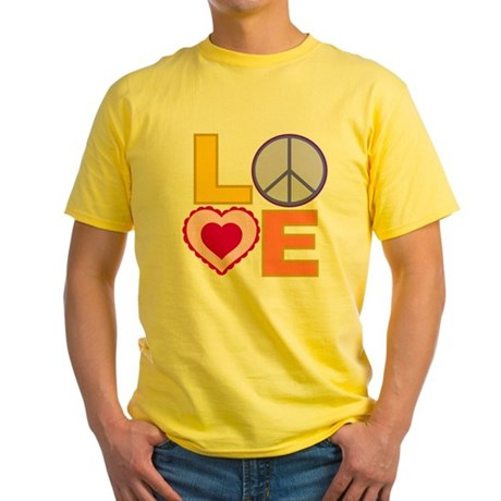 Love Art Yellow T-Shirt