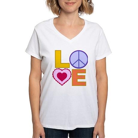 Love Art Women's V-Neck T-Shirt