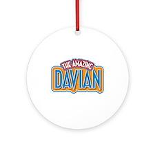 The Amazing Davian Ornament (Round)