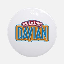 The Amazing Davian Ornament (Round)