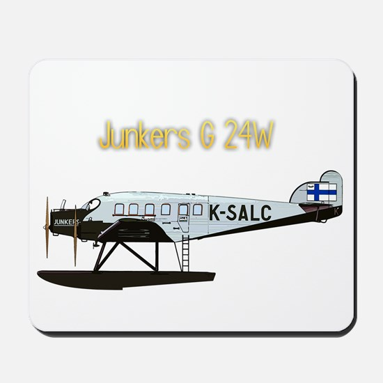 Junkers G 24W w text Mousepad