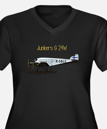 Junkers G 24W w text Plus Size T-Shirt