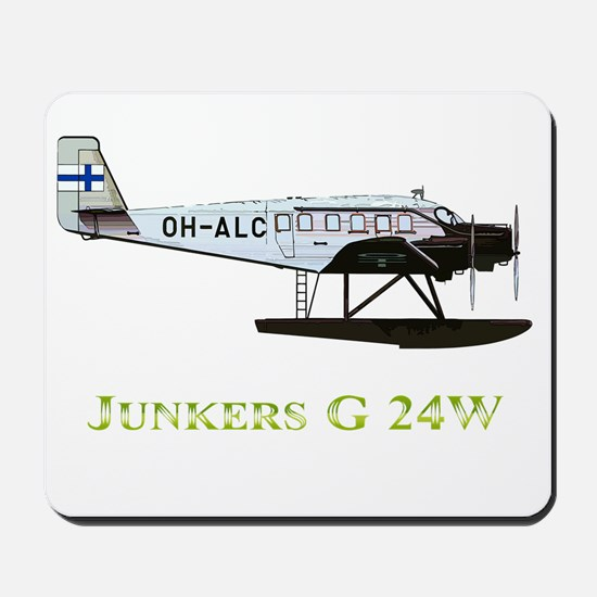 Junkers G 24W 2 w text Mousepad