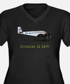 Junkers G 24W 2 w text Plus Size T-Shirt