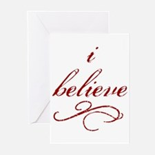 I Believe (fancy) Greeting Cards (Pk of 10)