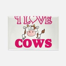 I Love Cows Magnets
