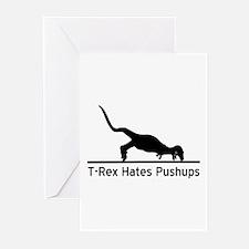 T-Rex Hates Pushups Greeting Cards (Pk of 20)