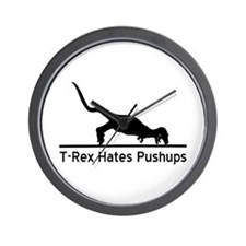 T-Rex Hates Pushups Wall Clock