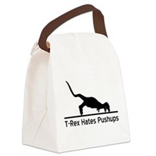 T-Rex Hates Pushups Canvas Lunch Bag
