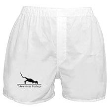 T-Rex Hates Pushups Boxer Shorts