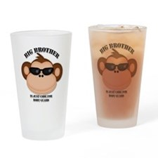 big brother body guard monkey Drinking Glass