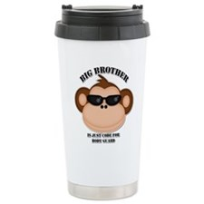 big brother body guard monkey Travel Mug