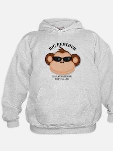 big brother body guard monkey Hoodie