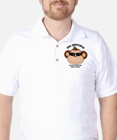 big brother body guard monkey Golf Shirt