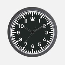 Military wall clock black