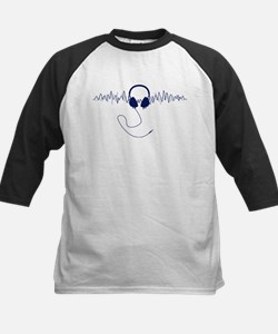 Headphones with Soundwaves Visual in Navy Blue Bas