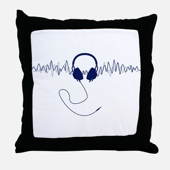 Headphones with Soundwaves Visual in Navy Blue Thr
