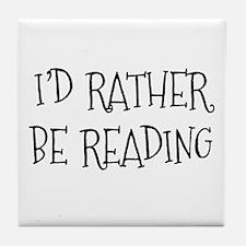 Rather Be Reading Playful Tile Coaster