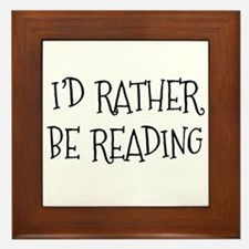 Rather Be Reading Playful Framed Tile