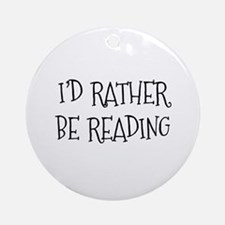 Rather Be Reading Playful Ornament (Round)