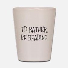 Rather Be Reading Playful Shot Glass