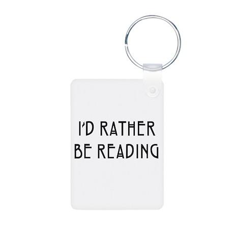 Rather Be Reading Nouveau Aluminum Photo Keychain