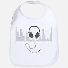 Headphones with Audio Bar Graph in Grey Bib