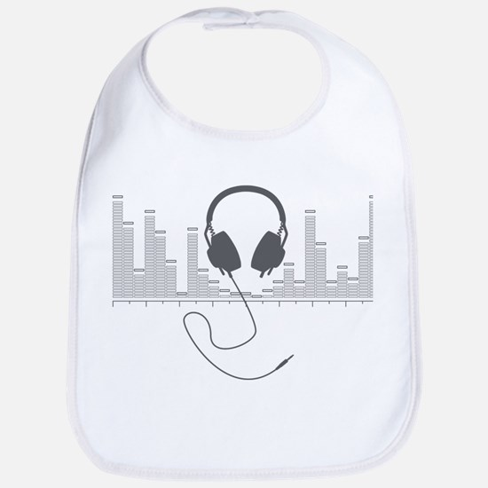Headphones with Audio Bar Graph in Grey Bib