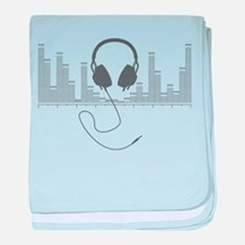 Headphones with Audio Bar Graph in Grey baby blank