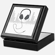 Headphones with Audio Bar Graph in Grey Keepsake B