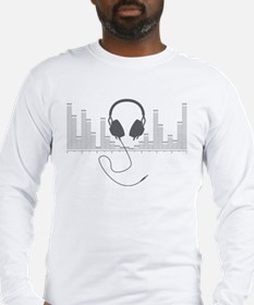 Headphones with Audio Bar Graph in Grey Long Sleev