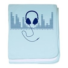 Headphones with Audio Bar Graph in Navy Blue baby