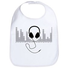 Headphones with Audio Bar Graph in Black Bib