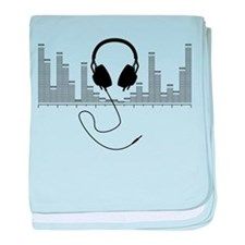 Headphones with Audio Bar Graph in Black baby blan