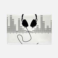 Headphones with Audio Bar Graph in Black Rectangle