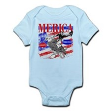 Merica Eagle and Cowboy Body Suit