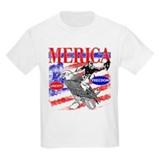 Merica Eagle and Cowboy T-Shirt