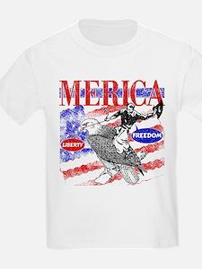 Merica Eagle and Cowboy T-Shirt