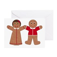 Gingerbread Couple Red Cards (Pk of 10)