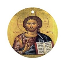 Isus Hristos Ornament (Round)