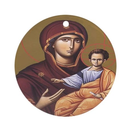 Sv. Bogorodica Ornament (Round)