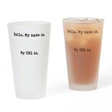 Fangirl ID Drinking Glass