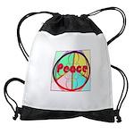 Abstract Peace Sign Drawstring Bag