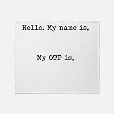 Fangirl ID - OTP Throw Blanket