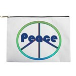 Blue / Green Peace Sign Makeup Pouch