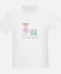 I'm a big sister kid's t-shirt: twins