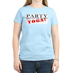 Toga Party Women's Pink T-Shirt